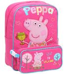 Peppa Pig Backpack & Utility Bag Pink PP56