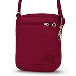 Pacsafe Citysafe CS75 RFID Blocking Anti Theft Cross Body Travel Bag Cranberry 20205