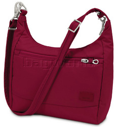 Pacsafe Citysafe CS100 RFID Blocking Anti Theft Tablet Handbag Cranberry 20210