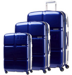 American Tourister Cube Pop Hardside Suitcase Set of 3 Midnight Blue 62360, 62361, 62362 with FREE Samsonite Luggage Scale 34042