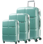 American Tourister Cube Pop Hardside Suitcase Set of 3 Mint Green 62360, 62361, 62362 with FREE Travelon Luggage Scale 12775