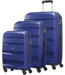 American Tourister Bon Air Hardside Suitcase Set of 3 Navy 62940, 62941, 62942 with FREE Samsonite Luggage Scale 34042