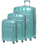 Samsonite Armet Hardside Suitcase Set of 3 Teal 64383, 64384, 64385 with FREE Samsonite Luggage Scale 34042