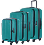 Lojel Hatch Hardside Suitcase Set of 3 Caribbean Green JHA55, JHA71, JHA74 with FREE Lojel Luggage Scale OCS27