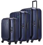 Lojel Hatch Hardside Suitcase Set of 3 Navy JHA55, JHA71, JHA74 with FREE Lojel Luggage Scale OCS27
