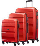 American Tourister Bon Air Hardside Suitcase Set of 3 Red 62940, 62941, 62942 with FREE Samsonite Luggage Scale 34042