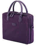 "Lipault Lady Plume Business 15.6"" Laptop & Tablet Bailhandle Purple 52004"
