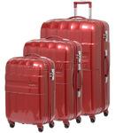 Samsonite Armet Hardside Suitcase Set of 3 Burgundy 64383, 64384, 64385 with FREE Samsonite Luggage Scale 34042