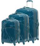 Lipault Plume Hardside Suitcase Set of 3 Duck Blue 67720, 67721, 67722 with FREE Samsonite Luggage Scale 34042