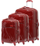 Lipault Plume Hardside Suitcase Set of 3 Ruby 67720, 67721, 67722 with FREE Samsonite Luggage Scale 34042