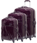 Lipault Plume Hardside Suitcase Set of 3 Violet 67720, 67721, 67722 with FREE Samsonite Luggage Scale 34042
