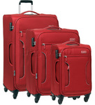 Antler Cyberlite II Softside Suitcase Set of 3 Red 39726, 39716, 39715 with FREE GO Travel Luggage Scale G2008