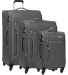 Antler Cyberlite II Softside Suitcase Set of 3 Grey 39726, 39716, 39715 with FREE GO Travel Luggage Scale G2008