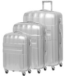 Samsonite Armet Hardside Suitcase Set of 3 Aluminium 64383, 64384, 64385 with FREE Samsonite Luggage Scale 34042