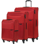 Samsonite 72 Hours Softside Suitcase Set of 3 Red 51440, 68218, 60572 with FREE Samsonite Luggage Scale 34042