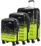 American Tourister Palm Valley Hardside Suitcase Set of 3 Flyaway Green 66369, 66370, 66371 with FREE Travelon Luggage Scale 12775