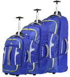 High Sierra Composite Wheeled Duffel with Backpack Straps Set of 3 Cobalt 63216, 63217, 63218 with FREE Samsonite Luggage Scale 34042
