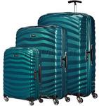 Samsonite Lite-Shock Hardside Suitcase Set of 3 Petrol Blue 62764, 62766, 62767 with FREE Samsonite Luggage Scale 34042