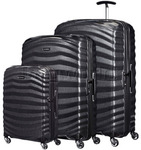 Samsonite Lite-Shock Hardside Suitcase Set of 3 Black 62764, 62766, 62767 with FREE Samsonite Luggage Scale 34042