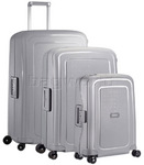 Samsonite S'Cure Hardside Suitcase Set of 3 Silver 56342, 56339, 64512 with FREE Samsonite Luggage Scale 34042