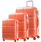 American Tourister Cube Pop Hardside Suitcase Set of 3 Coral 62360, 62361, 62362 with FREE Travelon Luggage Scale 12775