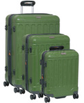 Jeep Canyon Hardside Suitcase Set of 3 Treetop Green 8791A, 8791B, 8791C with FREE GO Travel Luggage Scale G2008