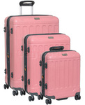Jeep Canyon Hardside Suitcase Set of 3 Strawberry Pink 8791A, 8791B, 8791C with FREE GO Travel Luggage Scale G2008
