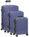 Jeep Plateau Hardside Suitcase Set of 3 Dark Blue 8792C, 8792B, 8792A with FREE GO Travel Luggage Scale G2008