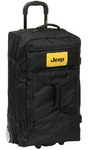 Jeep Hemisphere Medium 68cm Drop Bottom Trolley Duffle Black J4366
