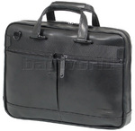 "Samsonite Mover LTH Leather 15.6"" Laptop Briefcase Black 72702"