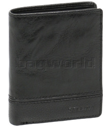 Cellini Men's Aston RFID Blocking Card Leather Wallet Black MH205