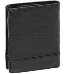 Cellini Men's Aston RFID Blocking Card Leather Wallet Black MH205 - 1