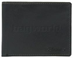Pellestaro Men's Fullgrain Cowhide RFID Blocking Slimline Leather Wallet Black PM002