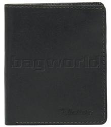 Pellestaro Men's Fullgrain Cowhide RFID Blocking Vertical Leather Wallet Black PM007