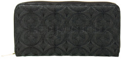Eve Daisy XL Zip Around RFID Blocking Wallet Black EW011