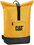 "CAT Tarp Power Arches 17"" Laptop Roll Top Backpack Yellow 83221"
