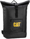 "CAT Tarp Power Arches 17"" Laptop Roll Top Backpack Black 83221"