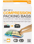 Travelon Travel Accessories Set of 2 Compression Packing Bags Clear 04250 - 3