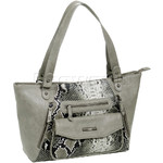 RMK Snake Large Tote RFID Blocking Handbag Grey Snake H1200