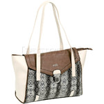 RMK Izzy Large Tote RFID Blocking Handbag Brown Natural Snake H1228
