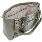 RMK Snake Large Tote RFID Blocking Handbag Grey Snake H1200 - 2