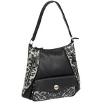 RMK Luxe North/South Hobo RFID Blocking Handbag Black Leopard H1232