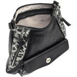 RMK Luxe North/South Hobo RFID Blocking Handbag Black Leopard H1232 - 2