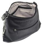RMK Luxe North/South Hobo RFID Blocking Handbag Black Leopard H1232 - 3