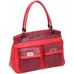 RMK Amaretta Tote RFID Blocking Handbag Red Berry H1238