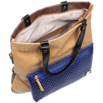 RMK Luna XL Satchel RFID Blocking Handbag Tan H1247 - 3