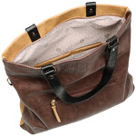 RMK Luna XL Satchel RFID Blocking Handbag Tan H1247 - 4