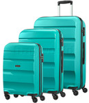American Tourister Bon Air Hardside Suitcase Set of 3 Deep Turquoise 62940, 62941, 62942 with FREE Samsonite Luggage Scale 34042