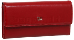 Cellini Ladies' Atlanta Foldover Leather Wallet Red T1027