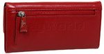 Cellini Ladies' Atlanta Foldover Leather Wallet Red T1027 - 1